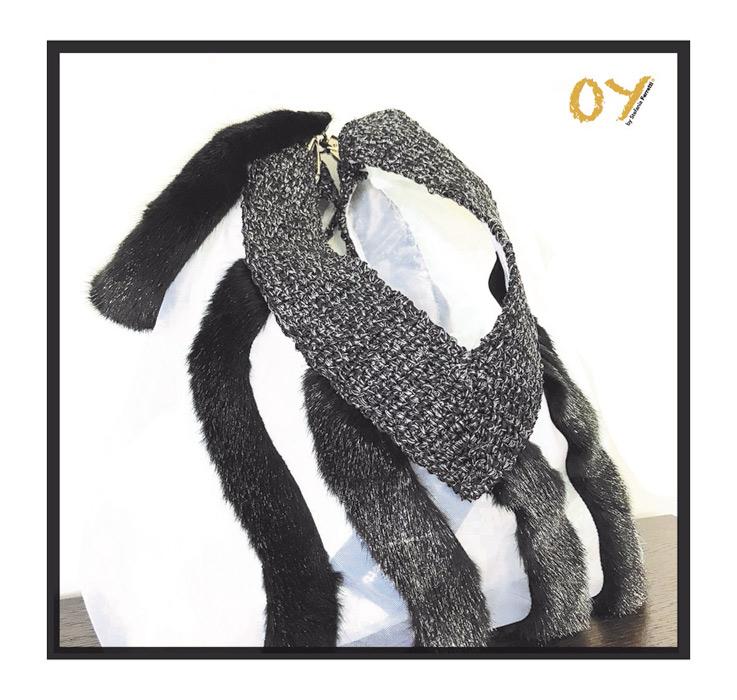 Borsa mare in pelliccia di OY by Stefania Ferretti